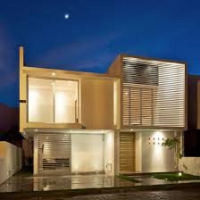 view modern house lights. Contemporary Lights Front Compact House Exterior Among Modern Home Shaped Design With White  Wall Decoration Ideas Used Flat Inside View Lights G