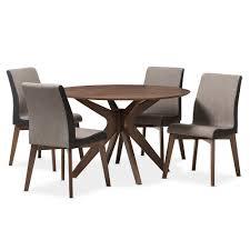 baxton studio kimberly midcentury modern walnut wood round