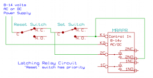 latching relay circuit schematic latching relay circuit