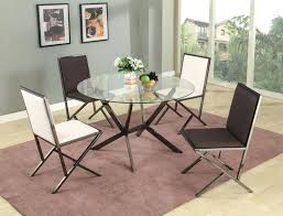 round glass dining room table beveled edge round glass dining table with four chairs glass