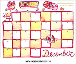 All calendars provide enough space for writing down notes and reminders. Free Printable Calendar December 2014 Hand Drawn Dimensions Of Wonder