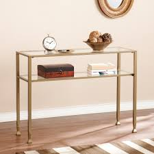 latest trend of gold and glass console table for light wood with