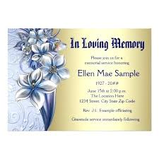 memorial service invitation best funeral invitations images on funeral ideas memorial service