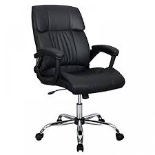 high back black leather executive office chair with triple paddle control. black pu leather ergonomic high back executive best desk task office chair with triple paddle control