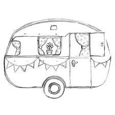 Retro Caravan Kleurplaat Google Zoeken Tiny Retro Campers
