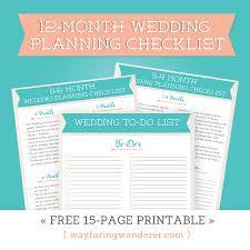 Blank Wedding Planning Checklist Wayfaring Wanderer 12 Month Wedding Planning Checklist Free