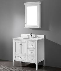 White 36 Bathroom Vanity buy cbi enna 36 inch modern bathroom