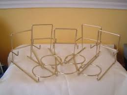 Trio Display Stands 40 X TRIO CUP SAUCER PLATE DISPLAY STANDS GOLD COLOURED METAL eBay 1