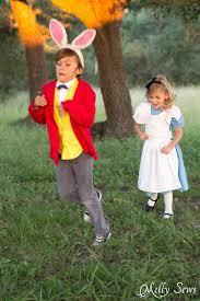 alice chases the rabbit alice in wonderland costume sew a diy alice in wonderland