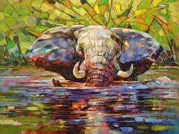 880x660 africa inspired palette knife paintings by radka kirby bored panda palette knife landscape painting
