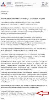 Germany Has Job Openings For 350 Filipino Nurses In 2018 Airfare