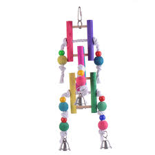 wooden toys with bell for pet birds parrot stand chew funny toys parrots bird cages decorative toys pet bird supplies handmade