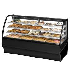 Ge Online Service Login True Tdm Dc 77 Ge Ge 77 Black Curved Glass Dry Bakery Display Case