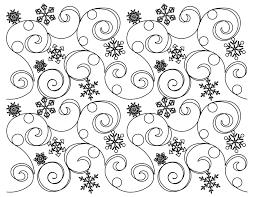 Longarm Quilting Designs Free Snow Crystals B2b Edge To Edge Digital Machine