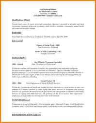 4 Social Worker Resume Template Cv For Teaching