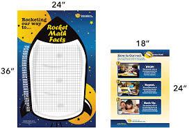 Rocket Math Chart Wall Chart And Corrections Poster 2016