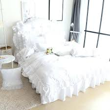 fashionable princess bedroom sets snow white bedding set king queen size luxury ruffles quilt cover toddler