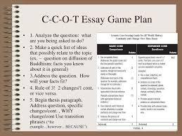 Ppt C C O T Essay Game Plan Powerpoint Presentation Id 3754871