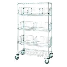 shelving dividers bed bath and beyond wire shelf adjule chrome storage rack with wheels 4 metal
