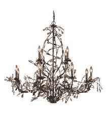 elk 8055 8 4 circeo 12 light 49 inch deep rust chandelier ceiling light