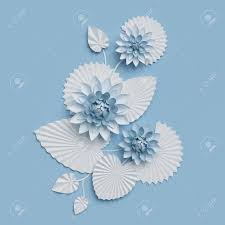 Wall Decoration Paper Design 100d Render Paper Lotus Flowers Blue Wall Decoration Border 81