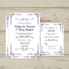 Free Pdf Download Wedding Invitation And Rsvp Doodle