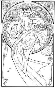 66 best art nouveau coloring book pages images on 316x500 jpeg