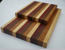 Edge Grain Wood Cutting Boards - Maple, Walnut, Padauk & Cherry