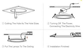 install indoor led ceiling light