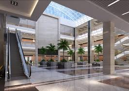 office building interior design. Office Building Lobby Interior Design With Elevator And Tree C