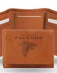 atlanta falcons genuine leather vintage trifold wallet