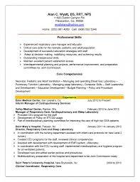 Resume Templates Respiratory Therapist Job Sample Resumes