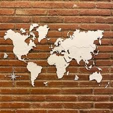 wooden world maps