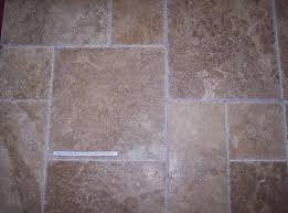 chiseled travertine kitchen tile flooring photo