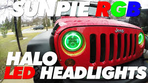 Sunpie Led Lights Sunpie Rgb Led Halo Headlights Jeep Jk