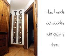 Wooden Ruler Growth Chart