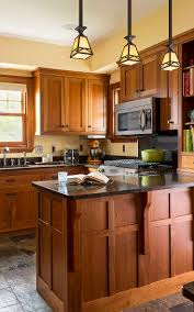 contemporary kitchen furniture detail. Craftsman Details Abound In This Updated Kitchen. Custom Cherry Cabinets Were Left Unstained To Highlight Contemporary Kitchen Furniture Detail E