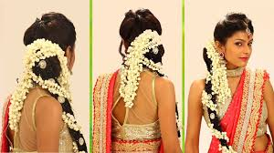 indian bridal hairstyle step by step south indian bridal hair style for wedding reception you