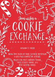 Holiday Party Invitation Wording Holiday Party Christmas Cookie Exchange Invite Wording