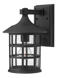 hinkley lighting 1804 1 light outdoor wall sconce from the freeport collection black outdoor lighting wall sconces outdoor wall sconces