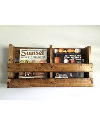 Fabric Magazine Holder Amish Hardwood Wall Mounted File Holder Or Magazine Rack Command 97