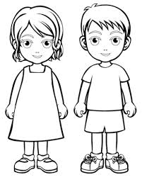Coloring Pages Boy And Girl Page Boys Girls Wear Coloring Pages