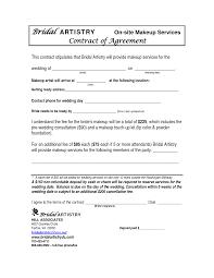 makeup artist contract agreement template