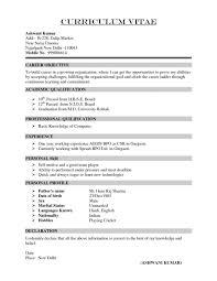 Mba Finance Marketing Resume Cv Biodata Curriculum Vitae Mba