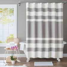 Lush Decor Lake Como Curtains Gray Shower Curtain