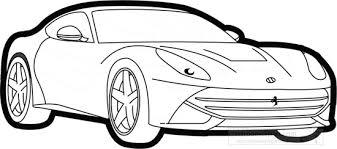 Cars Black And White Outline Clipart Ferrari F12 Berlinetta Black White Outline Clipart Classroom Clipart