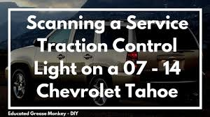 Scanning a 2009 Chevy Tahoe w/ Service Traction Control ...