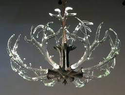 full size of lighting amazing faux antler chandelier white 10 deer the crystal from lawson glass
