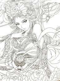 Free Printable Coloring Pages For Adults And Anime Plasticultureorg
