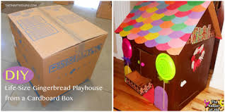 Decorating Cardboard Boxes DIY LifeSize Gingerbread Playhouse from a Cardboard Box 25